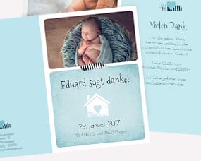 Dankeskarten Geburt Gestalten Liebevolle Karten In 1 2 Tagen